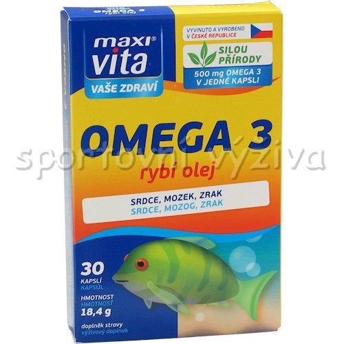 Maxivita Omega 3 Rybí olej 30 tablet