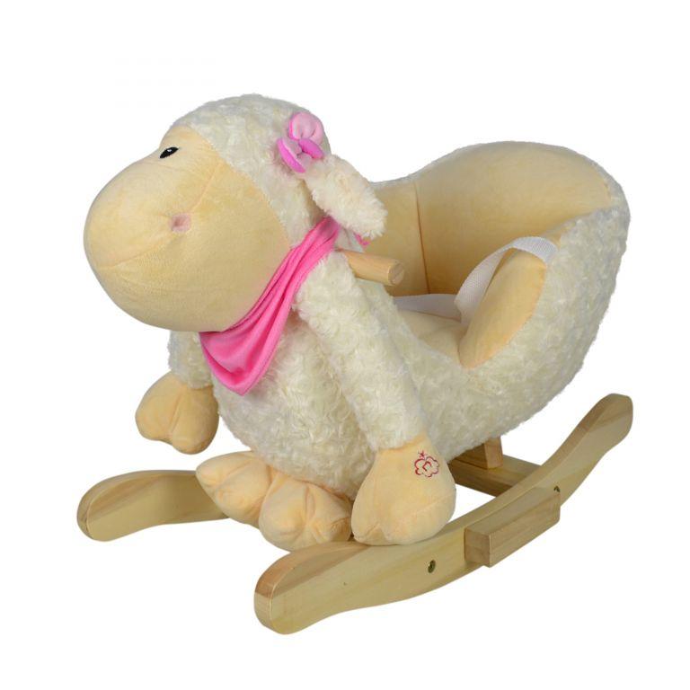 Plyšové houpací zvířátko ovečka, 68 x 33 x 47 cm