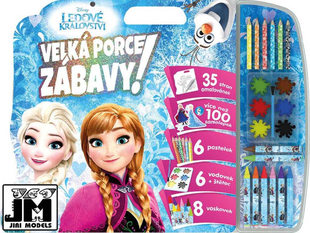 JIRI MODELS Mega omalovánkový set se samolepkami Frozen (Ledové Království)