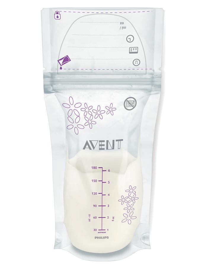 Sada sáčků na mléko Avent 180 ml - 25 kusů - dle obrázku