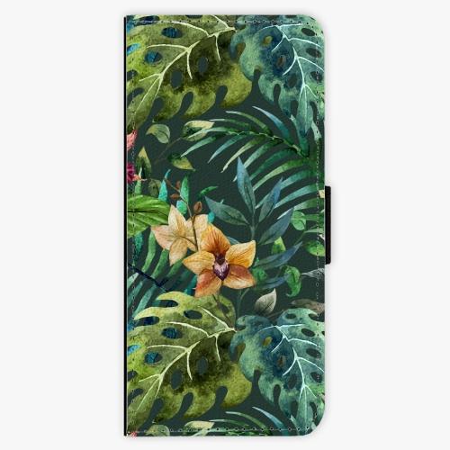 Flipové pouzdro iSaprio - Tropical Green 02 - Samsung Galaxy J3