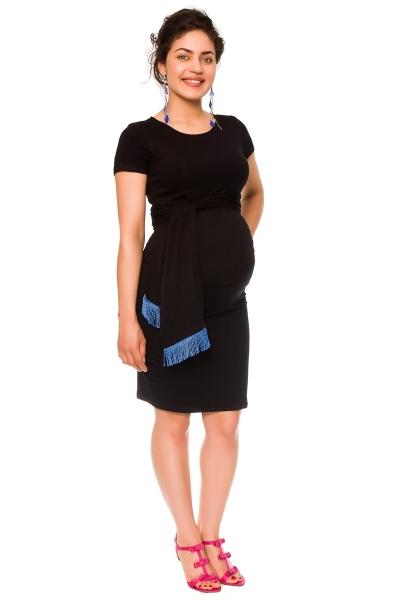 Těhotenské a kojící šaty Agnes - černé se