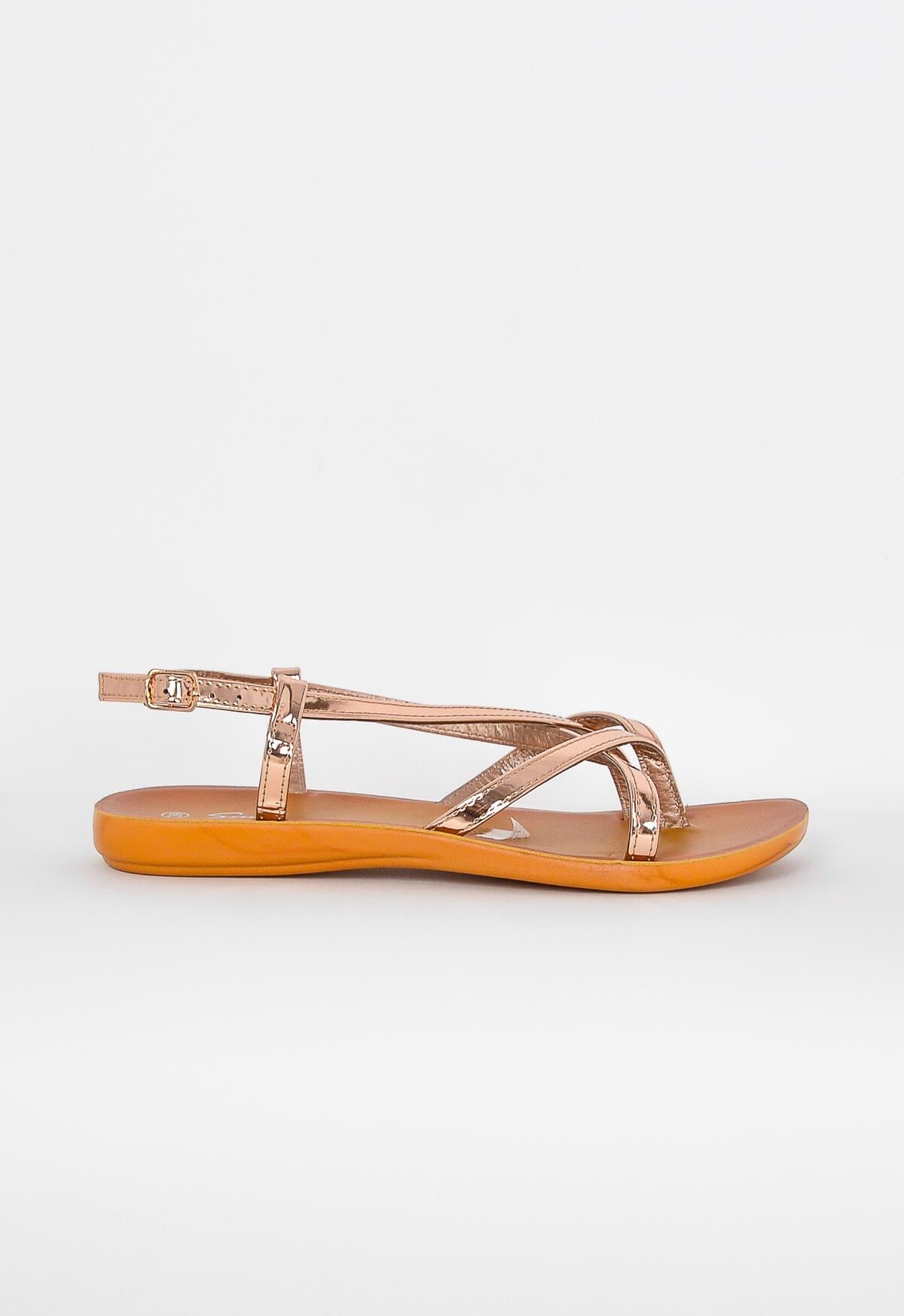 Dámské sandály se zkříženými pásky