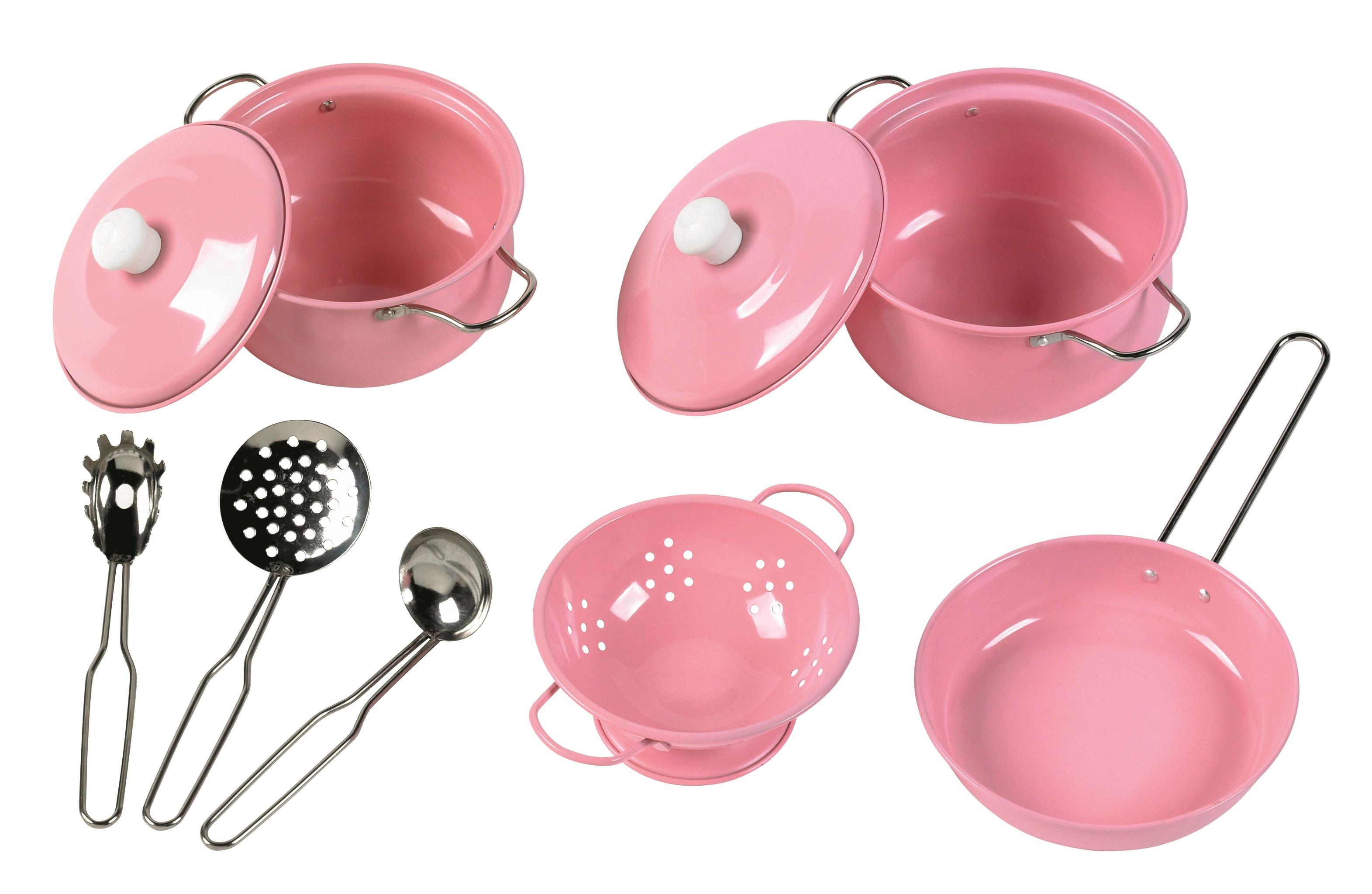 Tidlo Sada nádobí růžová