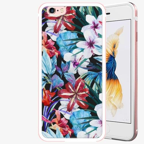 Plastový kryt iSaprio - Tropical Flowers 05 - iPhone 6 Plus/6S Plus - Rose Gold