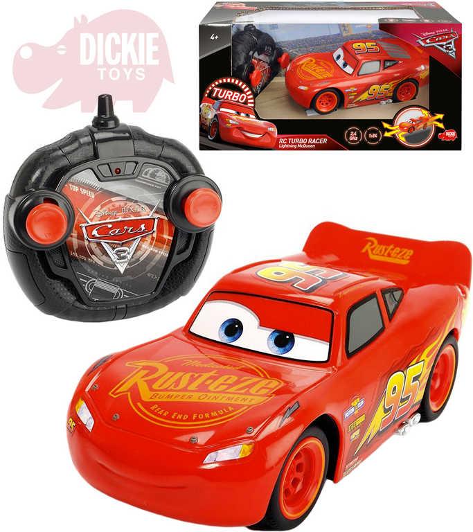 DICKIE RC Autíčko Blesk Auta 3 (Cars) 17cm 1:24 na dálkové ovládání 2,4GHz turbo plast