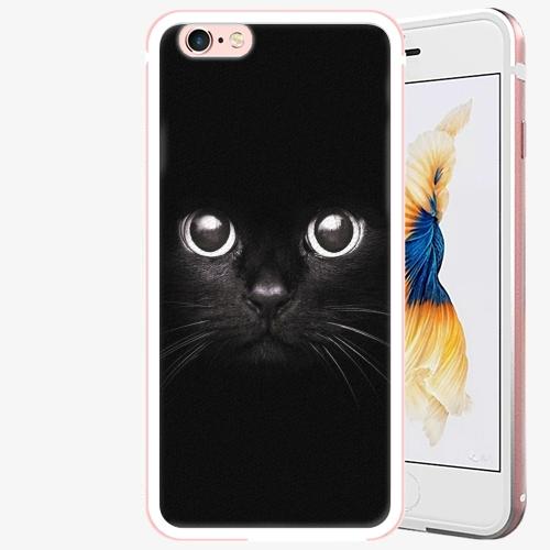Plastový kryt iSaprio - Black Cat - iPhone 6 Plus/6S Plus - Rose Gold