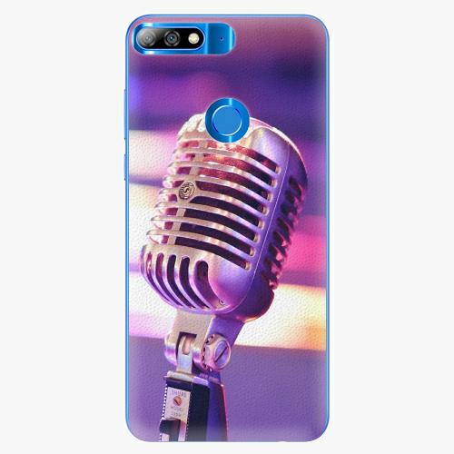 Plastový kryt iSaprio - Vintage Microphone - Huawei Y7 Prime 2018