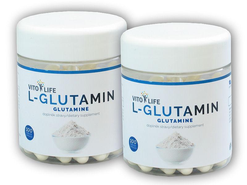 2x L-Glutamin 100 kapslí