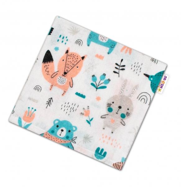 Baby Nellys Mini flanelová plenka - Forest Girl