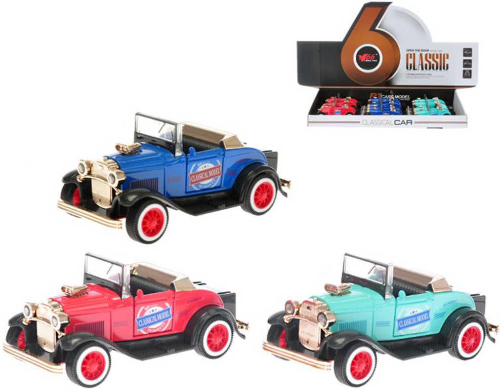 Auto historické retro model 11cm veterán na baterie - 3 barvy