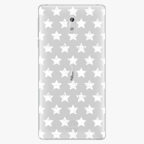 Plastový kryt iSaprio - Stars Pattern - white - Nokia 3