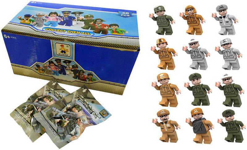 AUSINI Stavebnice figurka voják 12 druhů Plastová postavička 6 cm Army