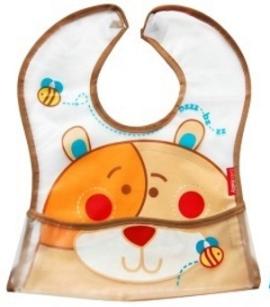 Dětská zástěrka Medvídek - hnědý