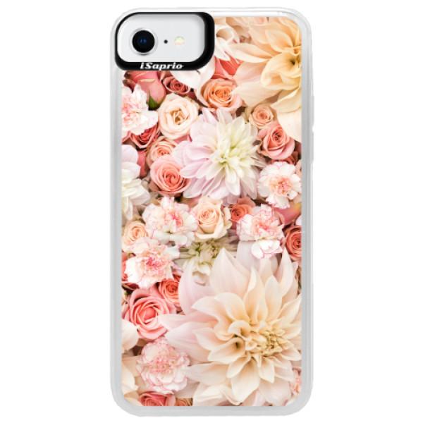 Neonové pouzdro Pink iSaprio - Flower Pattern 06 - iPhone SE 2020