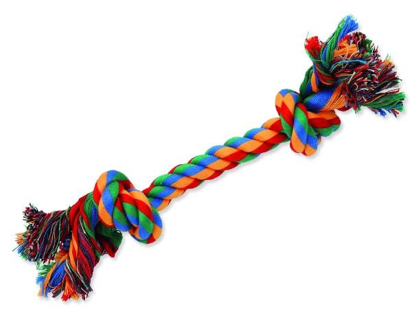 Uzel DOG FANTASY bavlněný barevný 2 knoty 25 cm