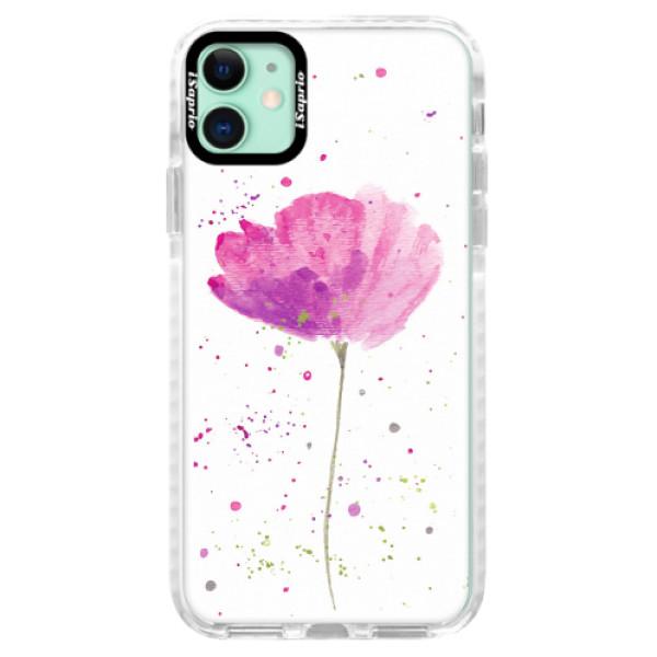 Silikonové pouzdro Bumper iSaprio - Poppies - iPhone 11