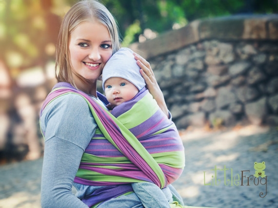 Little FROG Tkaný šátek na nošení dětí - ALEXANDRITE - XL