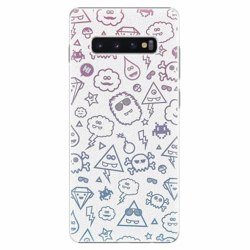 Plastový kryt iSaprio - Funny Clouds - Samsung Galaxy S10+