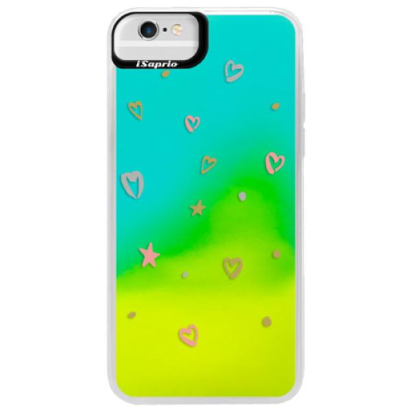Neonové pouzdro Blue iSaprio - Lovely Pattern - iPhone 6 Plus/6S Plus