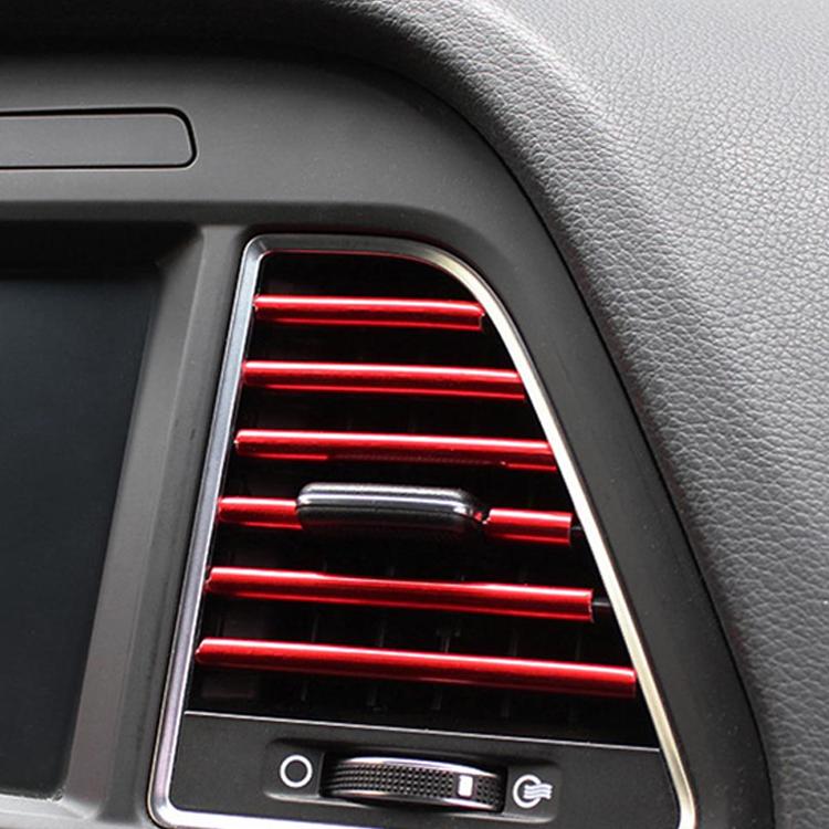 Dekorační lišty na ventilační mřížku auta - červená