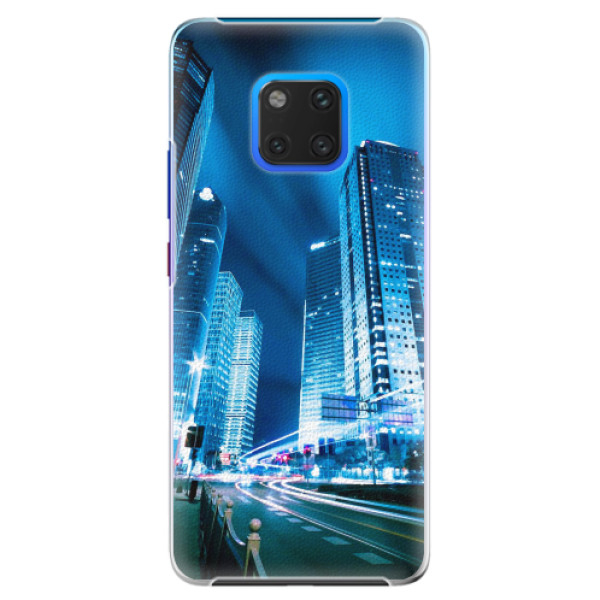 Plastové pouzdro iSaprio - Night City Blue - Huawei Mate 20 Pro