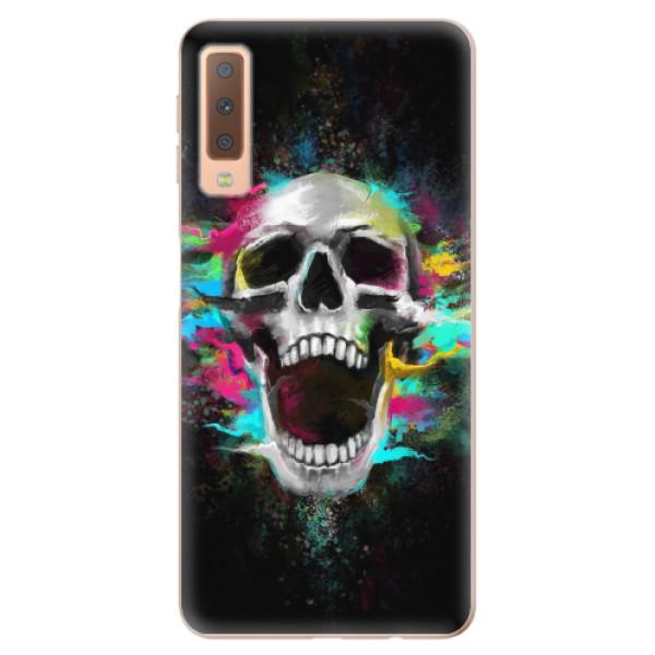 Odolné silikonové pouzdro iSaprio - Skull in Colors - Samsung Galaxy A7 (2018)