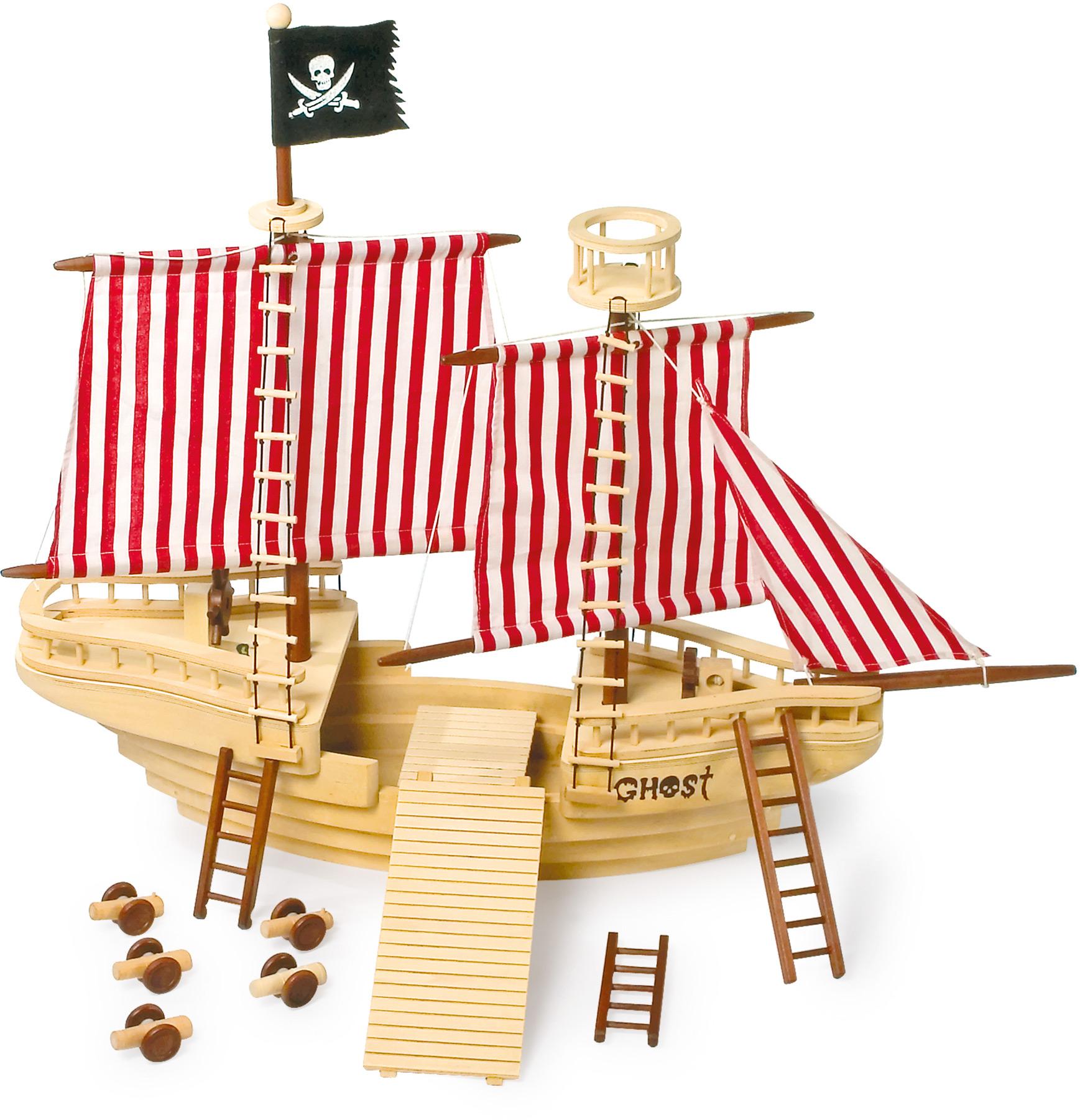 Small Foot Dřevěná pirátská loď
