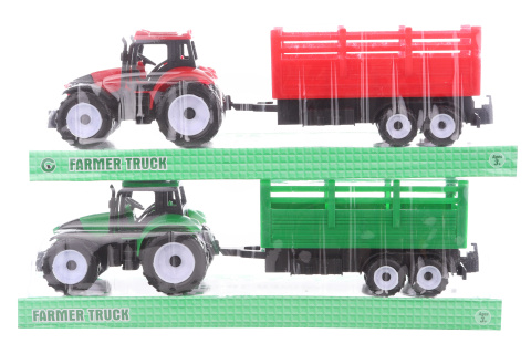 Traktor s vlečkou 2 barvy