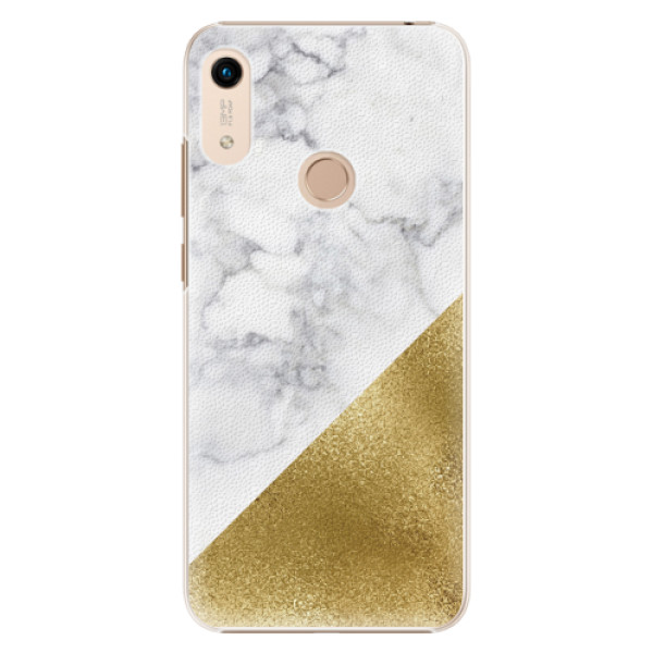 Plastové pouzdro iSaprio - Gold and WH Marble - Huawei Honor 8A