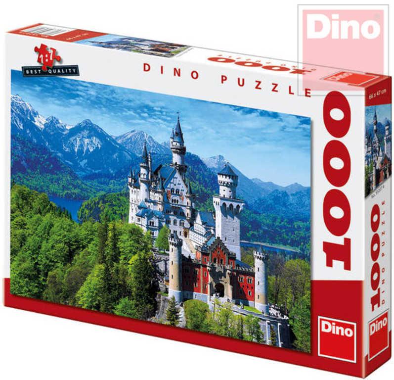 DINO Puzzle 1000 dílků Neuschweinstein 66x47cm skládačka v krabici
