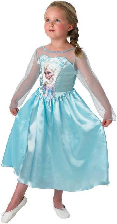 KARNEVAL Šaty Elsa Frozen (Ledové Království) vel.M 120-130cm (5-9 let) KOSTÝM
