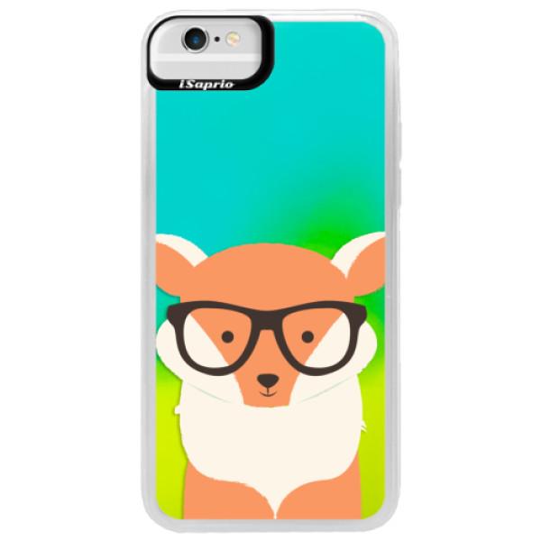 Neonové pouzdro Blue iSaprio - Orange Fox - iPhone 6/6S