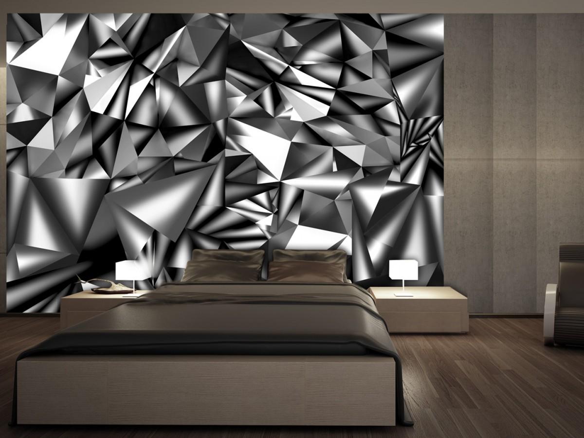 3D tapeta - Metalická harmonie
