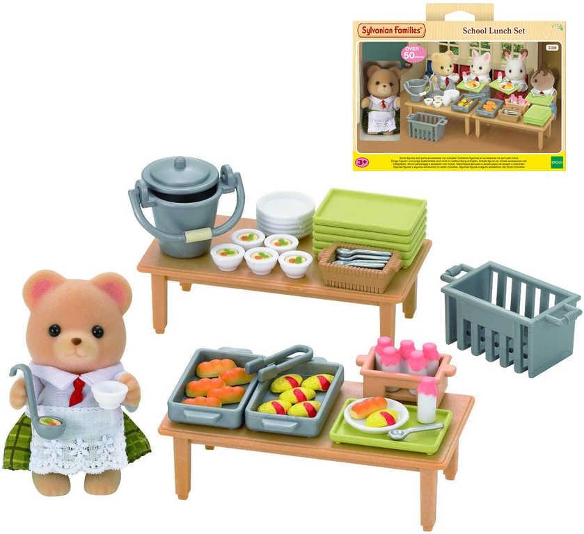 OLYMPTOY Sylvanian Families Školní obědy set figurka s doplňky plast