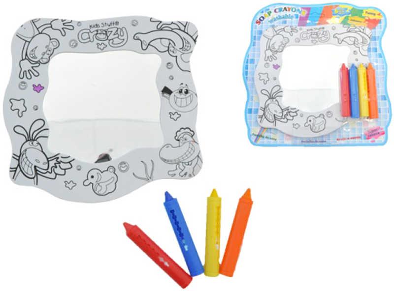 Pastelky na kreslení mýdlove do vany se zrcadlem 4 ks