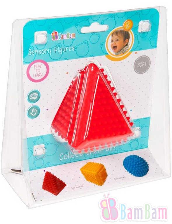 ET BAM BAM Baby Trojúhelník senzorický soft gumový s bodlinkami pro miminko