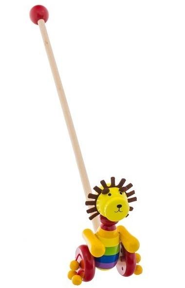 Dřevěná jezdící hračka Euro Baby - lev