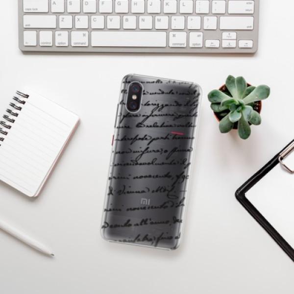 Plastové pouzdro iSaprio - Handwriting 01 - black - Xiaomi Mi 8 Pro