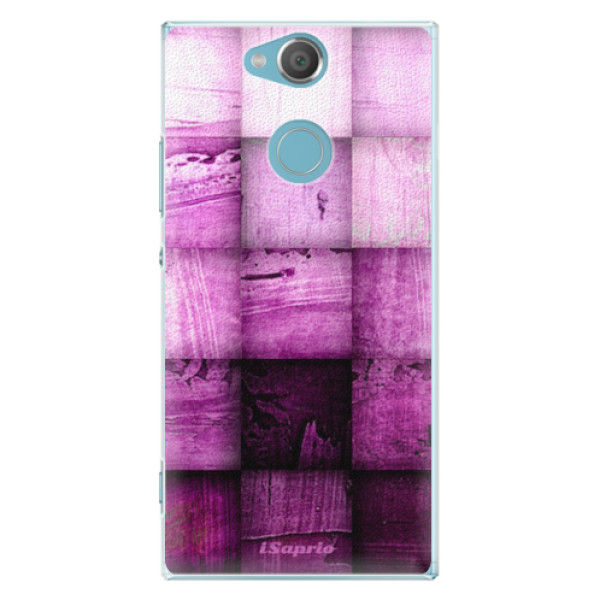 Plastové pouzdro iSaprio - Purple Squares - Sony Xperia XA2