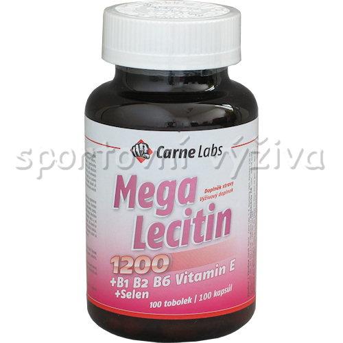 Mega Lecitin 1200+B1 B2 B6 E+Selen 100 kapslí