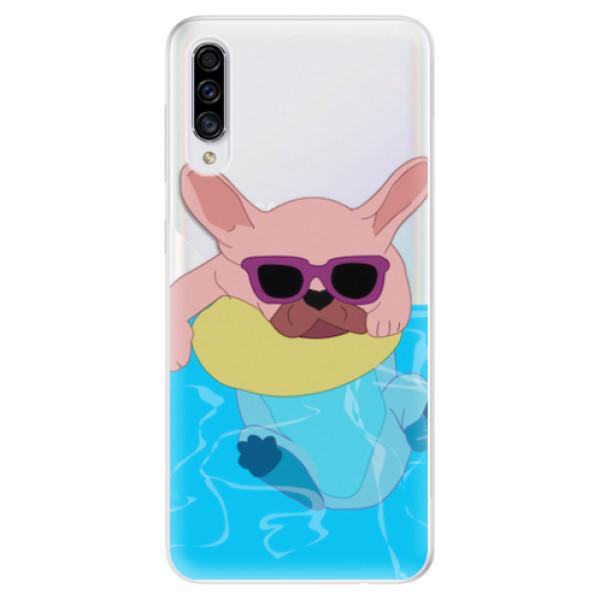 Odolné silikonové pouzdro iSaprio - Swimming Dog - Samsung Galaxy A30s