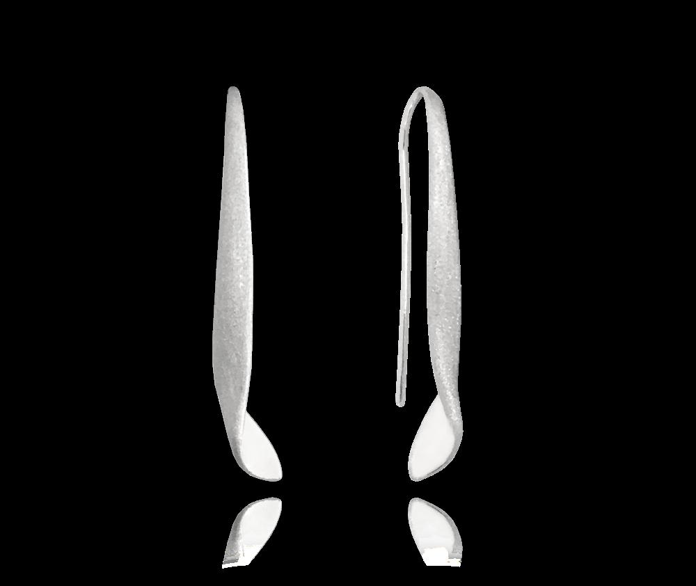 Luxusní kroucené stříbrné náušnice