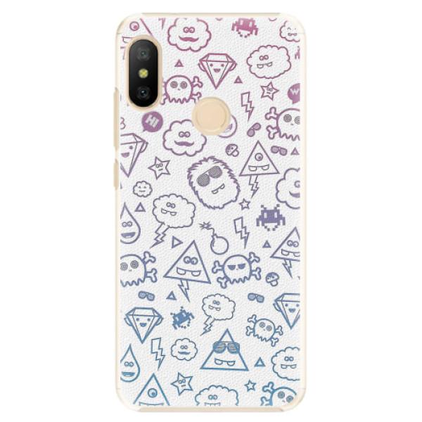 Plastové pouzdro iSaprio - Funny Clouds - Xiaomi Mi A2 Lite