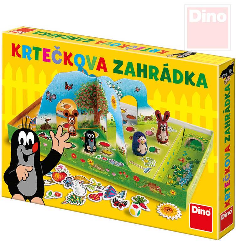 DINO Hra Krtečkova zahrádka 3D Krtek (Krteček) *SPOLEČENSKÉ HRY*