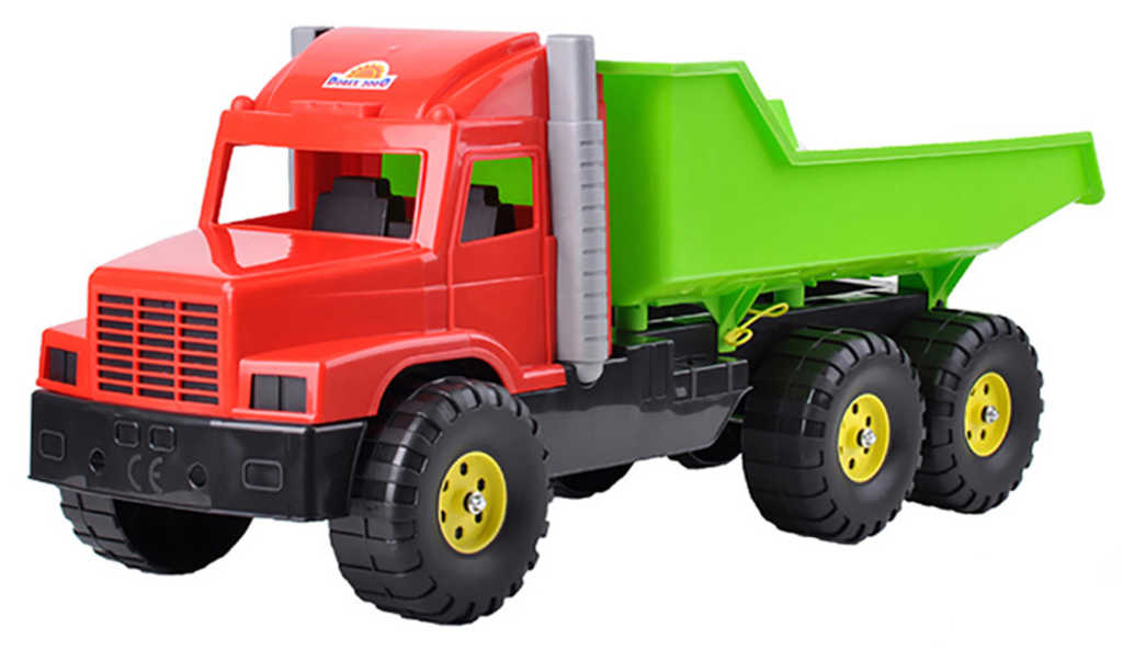 Auto nákladní 77cm červeno-zelené sklápěčka na písek plast