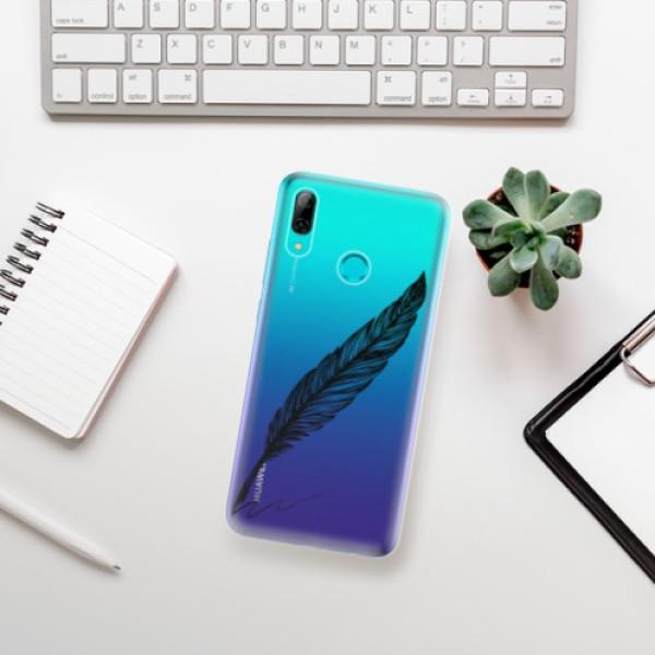 Odolné silikonové pouzdro iSaprio - Writing By Feather - black - Huawei P Smart 2019