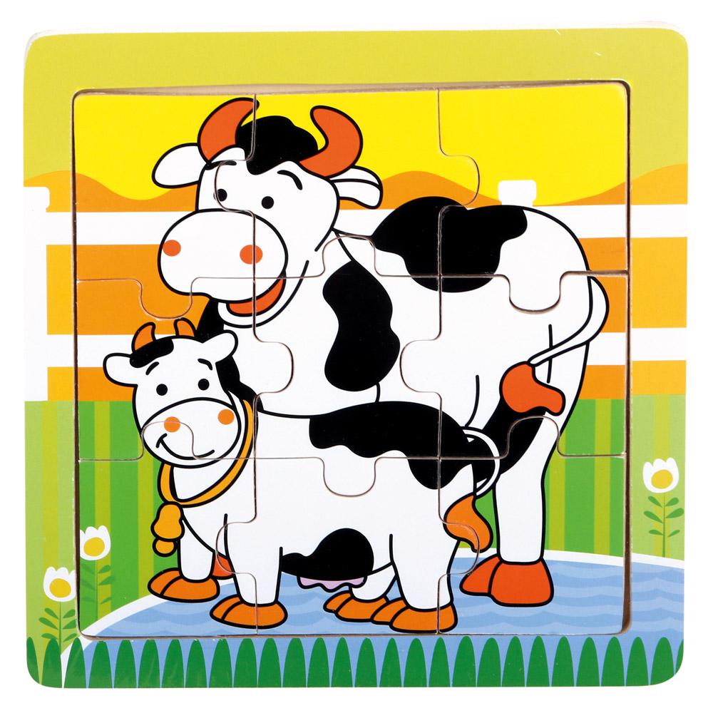 Dřevěné puzzle - kravičky