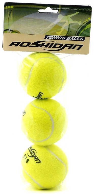 Sada míčků na tenis set 3ks balonky žluté v sáčku