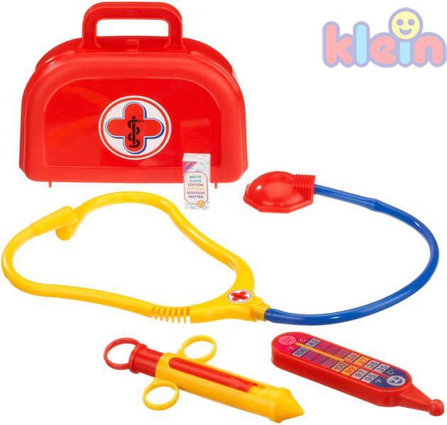 KLEIN Plastový doktorský kufřík pro děti malý set s doplňky